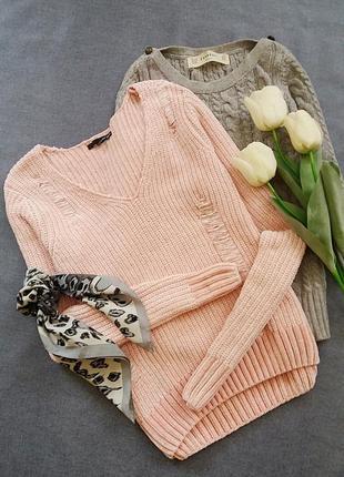 Модный свитер розовый tally weijl