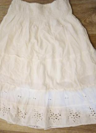 Хлобковая юбка трапеция