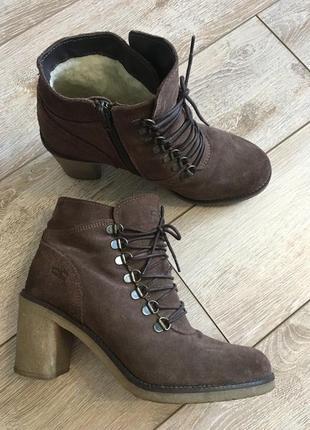 Замшевые ботинки marco tozzi
