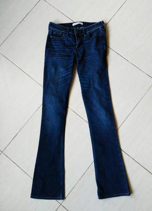 Джинсы синие клеш штаны s w25 l 33