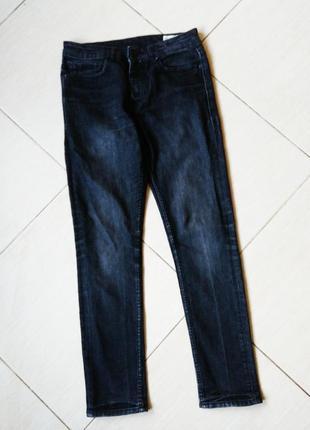 Джинсы черные варенки скини узкие брюки штаны w 30 l30 чорні штани