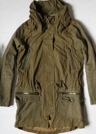 Парка от zara пальто с капюшоном