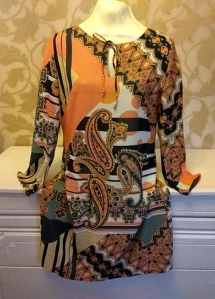 Яркое платье миди (италия)