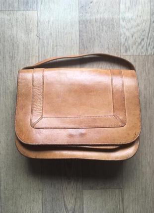 Кожанная сумочка ручной работы (на плечо)