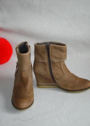 Кожаные ботинки полусапожки бренд bellissimo