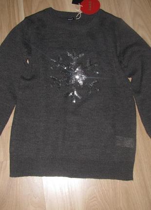 Новогодний свитер снежинка christmas collection от cropp town