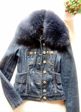 Джинсовая утепленная куртка бренд sassofono