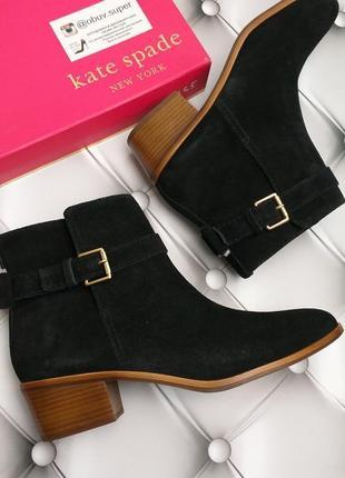 Kate spade new york оригинал шикарные удобные черные замшевые ботинки бренд из сша