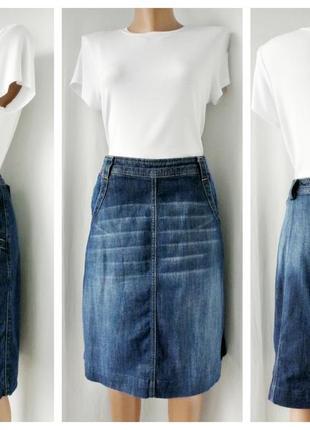 Модная, трендовая джинсовая юбка white stuff . размер 14.