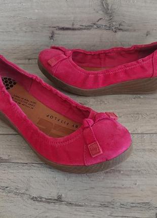 Балетки туфли замш кожа  фитфлоп fitflop 35 размер 22,5 см танкетка