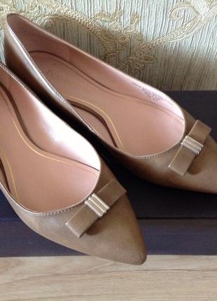 Туфли балетки enzo angiolini натуральная кожа