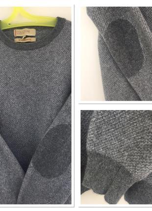 Итальянский свитер collezione из кашемира и шерсти