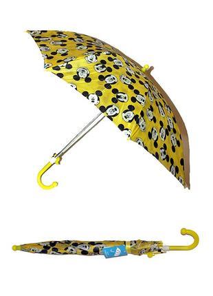 Детский зонт трость со свистком полуавтомат для мальчика или девочки от 3 лет