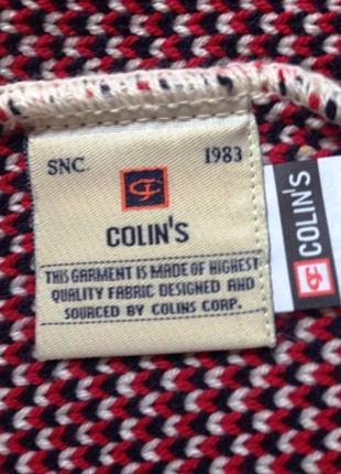 """Оригинальный комплект с ромбами """"colins"""" трикотажный - шапка и шарф3 фото"""