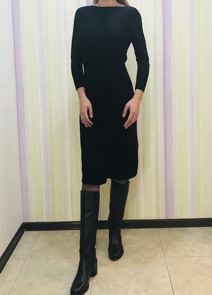 Стильное шерстяное платье cos 100% шерсть