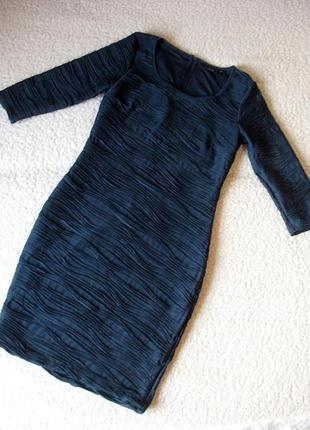 Платье синее облегающего силуэта fransa