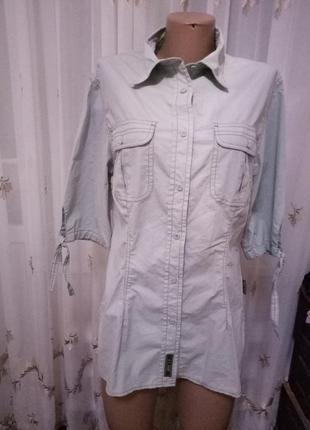 Серая стрейчевая рубашка