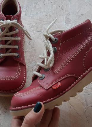 Кожаные ортопедические ботинки kickers 32 р