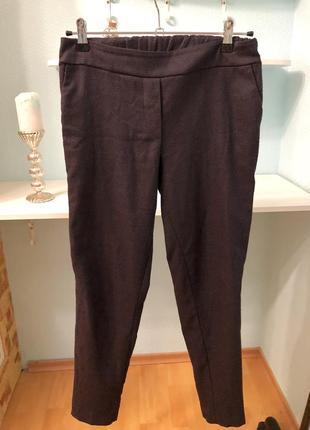 Шерстяные брюки штаны базовые тёплые