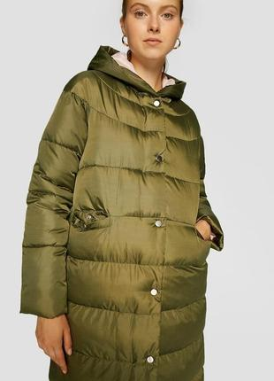 Стеганое пальто на синтепоне stradivarius
