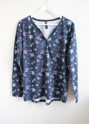 Базовая трикотажная блуза в цветочный принт colour of the world