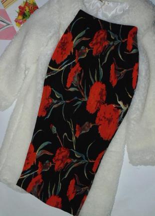 Красивая юбка миди в цветах