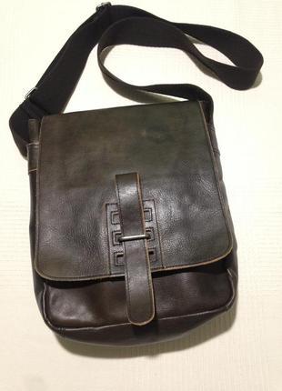Кожаная сумка-планшет fossil/оригинал