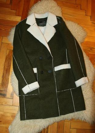 Трендовое шерстяное пальто h:connect