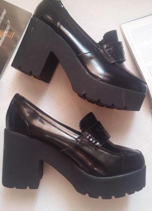 """Распродажа! стильные туфли на тракторной подошве """"tally weijl"""", размер 39"""
