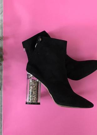 Ботинки с глиттерным каблуком  sh1843104 bbbo