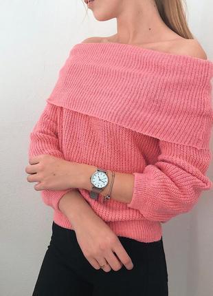Яркий свитер на спущенные плечи primark