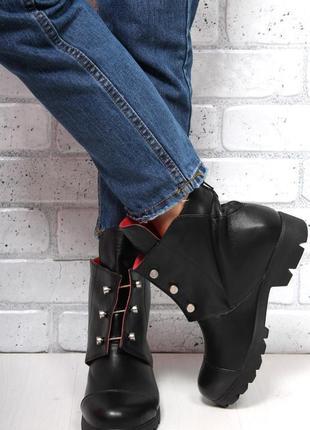 Крутые кожаные ботинки люкс 40 размер