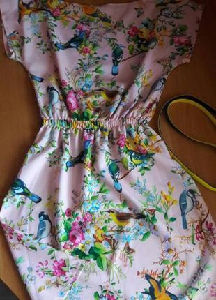 Красивое летнее платье, размер s, отлично идет на 42-44