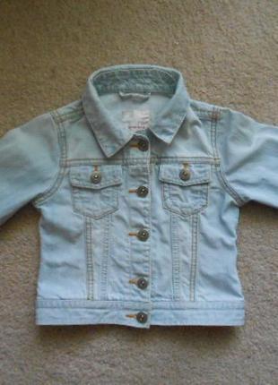 Стильный джинстовый пиджак next  5-6 лет