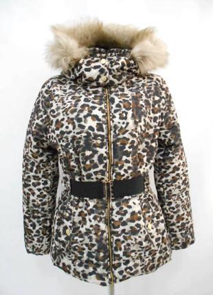 Куртка леопардовая h&m