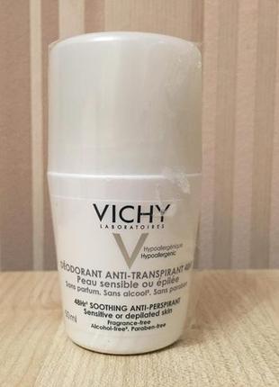 Антиперспирант дезодорант для чувствительной кожи vichy sensitive anti-transpirant 48h2