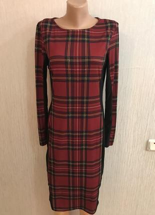 Трендовая платье 👗 в шотландскую клетку river island из англии
