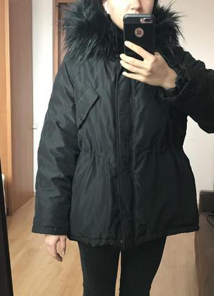 Новая тёплая зимняя/демисезонная куртка h&m, размер s, новая {купила в сша}