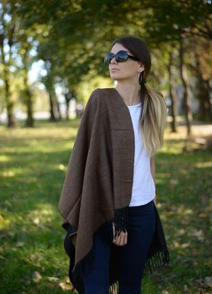 Шарф женский 150*60 см коричневый