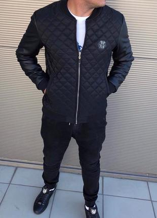 Мужская стильная осенняя куртка philipp plein