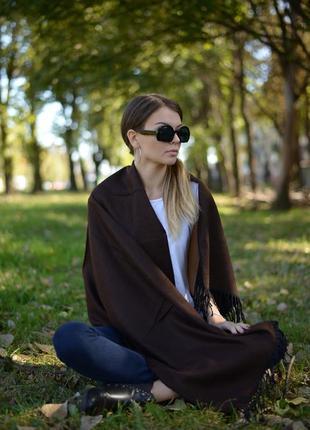 Шарф женский 150*60 см темно-коричневый