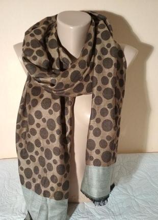 Шарф, палантин, шаль, шейный платок 72 х 200