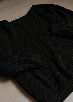 Вязаный удлиненный свитер boohoo на одно плече, с открытой спиной