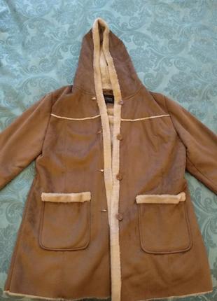 Женская куртка дубленка пальто