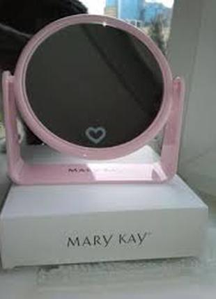 Двухсторонее розовое зеркало , mary kay, мери кей
