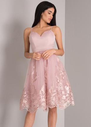 Роскошное платье миди . вечернее платье. коктейльное платье chi chi london