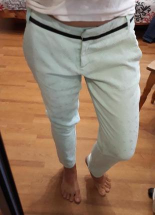 Kira plastinina мятные штаны брюки размер s
