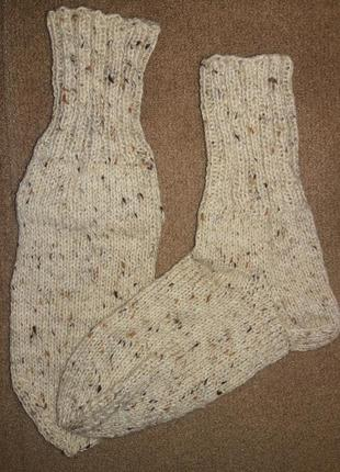Вязаные носки ручная работа