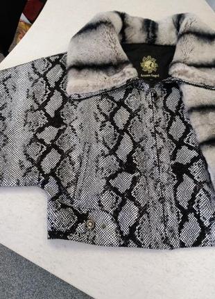 Кожаная куртка с мехом3 фото