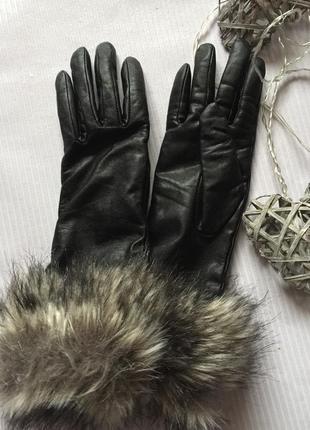 Классные перчатки кожа